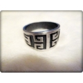 Aqua Line - Men of Thumb Rings - Steel In Style - SQUARE GREEC